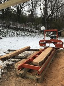 Click to enlarge image  - WHITE OAK LOG - MILLING A LOG INTO LUMBER