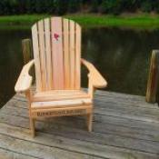 "Logo Adirondack Chair, with 23"" seat width"