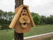 Click to enlarge image <B>BEAR BIRDHOUSE</B> - <B>A WOODLAND CREATURE WITH RUSTIC STYLE</B>