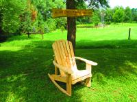 "Click to enlarge image ADIRONDACK ROCKER CHAIR 20"" SEAT WIDTH - BUILT FOR OLD FASHIONED COMFORT"