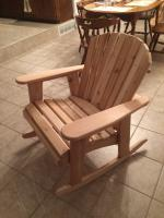 "Click to enlarge image <B>GARDEN ROCKER CHAIR 23"" SEAT WIDTH</B> - <B> ROCKING CHAIRS PROVIDE BLISSFUL SOOTHING RESPITE FROM DAY TO DAY LIFE</B>"