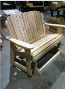 "Click to enlarge image <B>GARDEN GLIDER BENCH 44"" SEAT</B> - <B>SEATS TWO COMFORTABLY</B>"