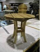 "Click to enlarge image <B>Round End Table</B> - <B>24"" Dia. Round Top Table</B>"
