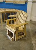 "Click to enlarge image <B>GARDEN GLIDER CHAIR 20"" SEAT WIDTH</B> - <B>INVITING AND DURABLE RUSTIC STYLE</B>"